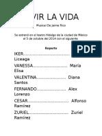 VIVIR LA VIDA Libreto Corregido