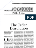 The Cedar Dissolution