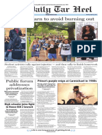 The Daily Tar Heel for April 25, 2016