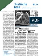 antifaschistische nachrichten 2002 #16