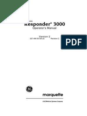 GE Responder 3000 - User Manual | Artificial Cardiac