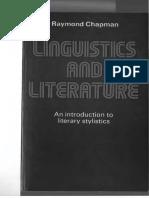 Raymond Chapman Linguistics and Literature