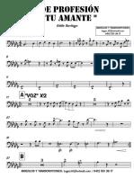 DE PROFESIÓN TU AMANTE - Eddie Santiago - 2° Trombón