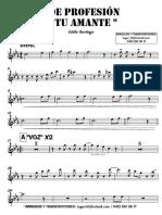 DE PROFESIÓN TU AMANTE - Eddie Santiago - 2° Trompeta en Bb