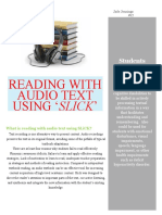 reading with audio text using slick handout