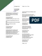 Letra en Español de La Canción de Coldplay