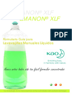 Formulas de Jabones Liquidos