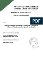 Automatización de Pruebas Psicológicas Proyectivas