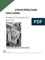Records Bldg- Historical Evaluation Presentation- 042616
