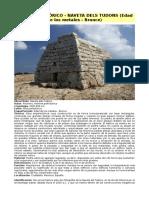Arte Prehistórico - Naveta Dels Tudons (Edad de Los Metales - Bronce)
