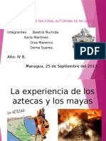 Presentación sobre los Aztecas y los Mayas