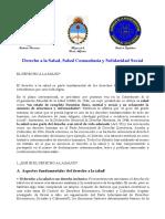 Derecho a La Salud Salud Comunitaria Solidaridad Social