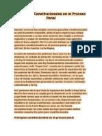 Garantías Constitucionales en El Proceso Penal