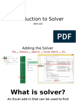 Introduction to Solver