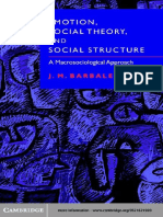 J. M. Barbalet Emotion, Social Theory, And Social Structure- A Macrosociological Approach