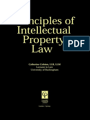 103 Intellectual Property Law Principles of Law | Copyright