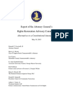 Report of the Attorney General's Rights Restoration Advisory Committee