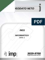 Lista 01 de Informática Para Inss