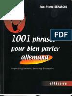 1001 Phrases Pour Bien Parler Allemand