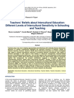 Teachers Beliefs About Intercultural Education Different Levels of Intercultural Sensitivity in Schooling and Teaching