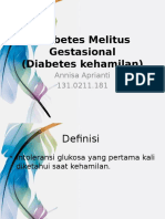 Diabetes Melitus Gestasional D