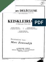 Keiskleiriana - J. Delécluse