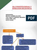 Reforma Constitucional y Administracion de Justicia