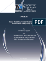 Cipr Study 150324 Usage Based Insurance and Vehicle Telematics Study Series