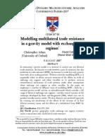 Defnition of Multilateral Resitance n Bilateral Trade Barrier