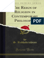 The Reign of Religion in Contemporary Philosophy 1000045894