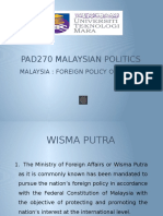 Malaysia's Foreign Policy Overview