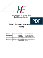 Safety Incident Management Policy