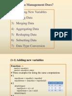 Data Management in R