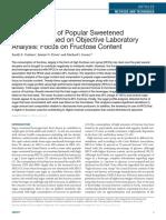 Analysis Fructose (Sweetener ) in Beverage Using Hplc
