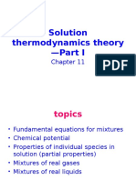 Solution Thermodynamics Theory-Ch 11