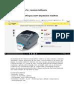 Impressora Para Impressão de Etiquetas