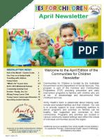 Communities for Children Newsletter April 2016