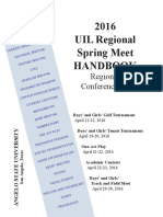 UIL Handbook 2016 to UIL