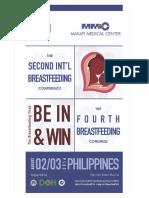 2nd International Breastfeeding Conference and 4th Breastfeeding Congress