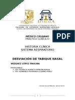 Historia clínica respiratorio