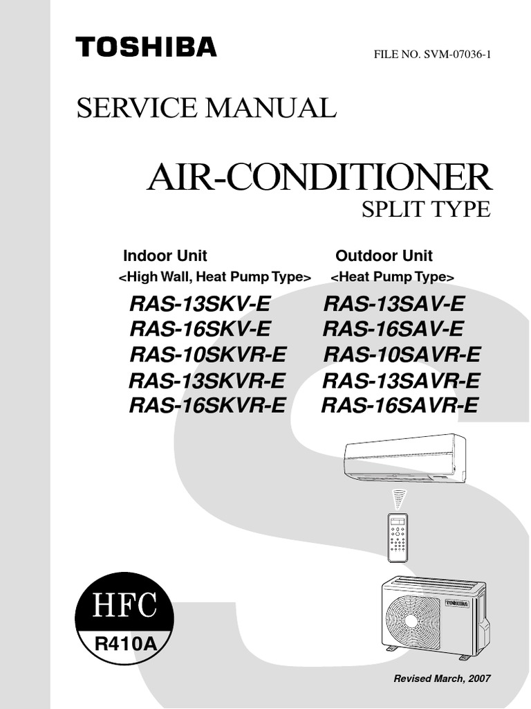toshiba manual air conditioner