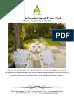 Faber Peak Wedding Price List Package ROM