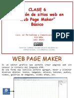 CLASE 6 Creación de Sitios Web en Web Page Maker Básico