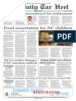 The Daily Tar Heel for April 26, 2016