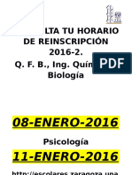 Consulta Tu Horario de Inscripcion 2016-2