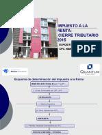 Cierre Tributario 2015 Escuela Negocios Quantum 2015
