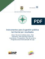 Guía 11 Instrumentos Para La Gestión Pública