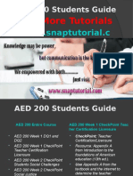 AED 200 Apprentice tutors/snaptutorial