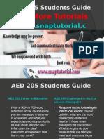 AED 205 Apprentice tutors/snaptutorial