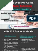 AED 222 Apprentice tutors/snaptutorial